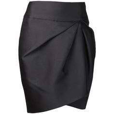 GIAMBATTISTA VALLI gathered pencil skirt ($660) ❤ liked on Polyvore featuring skirts, bottoms, saias, gonne, black knee length pencil skirt, asymmetrical skirt, shirred skirt, ruched skirt and black pencil skirt