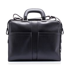 Classic leather work bag with rigid hand handles, detachable cotton shoulder strap with logo by @Salvatore Ferragamo Official #forman