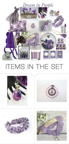 """""""Dream in Purple"""" by omearascottagecharm ❤ liked on Polyvore featuring art"""