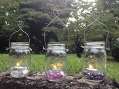 Mason Jar Lanterns, Candle Jars, Mason Jars, Candle Holders, Home Candles, Candels, Wedding Planning, Wedding Ideas, Glass Vase