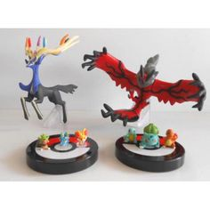 Pokemon 2013 Zukan 1/40 Scale Mini Figure Set #XY01 Fennekin Froakie Chespin Xerneas Yveltal & More
