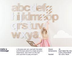 DIY Cardboard alphabet