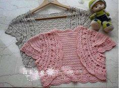 Moldes para tejer una tunica a crochet para niñas04