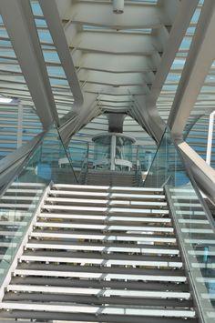 Calatrava stair  photo by Jeff DuBro