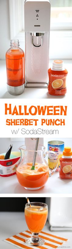 Halloween sherbet punch on iheartnaptime.com ...super easy to make and tastes amazing!