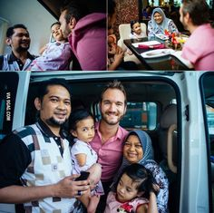 A Malaysian family of girl with no arms and legs drove seven hours to meet Nick Vujicic. Touching photos ensue.
