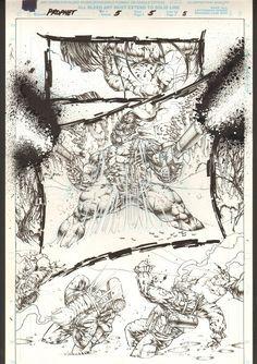 Stephen Platt Prophet 5 page in Sean Marsh's Stephen Platt Comic Art Gallery Room Comic Books Art, Comic Art, Book Art, Comic Panels, Image Comics, Good Old, Art Techniques, Dbz