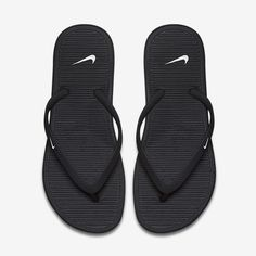 Nike Flip Flops/Price Firm Black thong flip flops/made with soft,pliable foam infused with grooves for superb airflow/injected thermoplastic rubber straps for comfort/harder foam outside for durability and traction/new without box/price is firm/thanks for looking☺️                                                       ❌No Trades❌ Nike Shoes