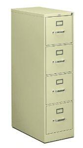 HON 4-Drawer Filing Cabinet - 310 Series Full-Suspension Letter File Cabinet 4 Drawer File Cabinet, Full Suspension, Cabinets, Drawers, Letter, Storage, Top, Furniture, Home Decor