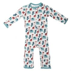 Print Coverall in Natural Stuffed Animal