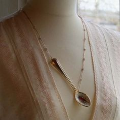 http://beloved.fi necklace made from a japanese bird spoon