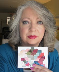 Kay with her Caygill JewelTone Summer Palette by Rochele HC Hirsch