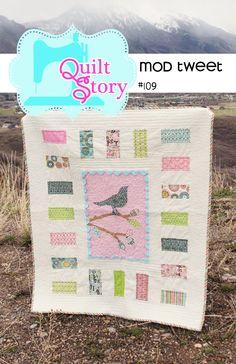 Quilt Pattern PDF bird easy applique modern simple baby patterns Mod Tweet. $9.00, via Etsy.