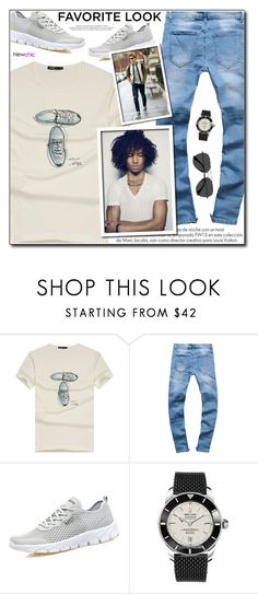 """""""NewChic 22 (Mens Fashion)"""" by adnaaaa ❤ liked on Polyvore featuring Louis Vuitton, Breitling, EyeBuyDirect.com, men's fashion and menswear"""