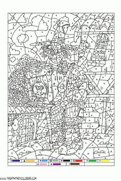 Image result for dibujos para colorear con números