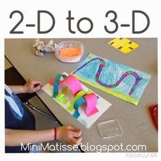 Mini Matisse: 2-D designs into 3 - D Sculptures
