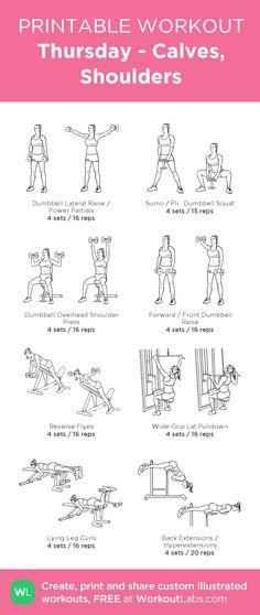 Thursday - Calves, Shoulders