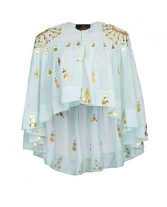 Aqua Cape with Gota Work