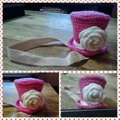Our Family Blogs About....: Crochet Mini Top Hat Headband
