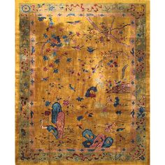 Antique Chinese Rug | From a unique collection of antique and modern chinese and east asian rugs at https://www.1stdibs.com/furniture/rugs-carpets/chinese-rugs/