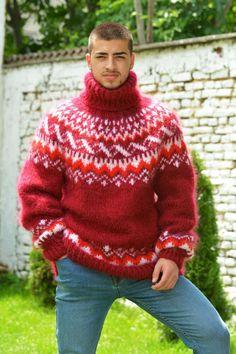 Mohair Sweater, Men Sweater, Angora, Iceland, Hand Knitting, Christmas Sweaters, Jumper, Street Wear, Turtle Neck