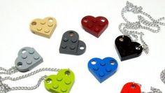 Lego Heart Necklaces, i ciondoli dolci ma geek