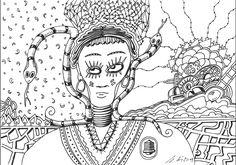 """""""snake queen"""", #Zeichnung #Pigmenttusche (Staedtler Pigment Fineliner) auf #Hahnemühle #Papier """"Nostalgie"""", 190 g/m2 14,8 x 21 cm, © #matthias #hennig 2018    """"snake queen"""", #india #ink #drawing (Staedtler Pqueenigment Fineliner) on Hahnemühle #paper ,190 g/sqm 14,8 x 21 cm, © #matthias #hennig 2018 #mySTAEDTLER #hennigdesign #artwork #moremoneyforlivingartists #unbelievable #doodle #snake Staedtler, Doodle, Drawing, Artwork, Nostalgia, Scribble, Work Of Art, Auguste Rodin Artwork, Sketches"""