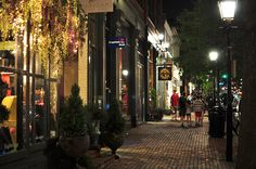 King Street at Night - Old Town Alexandria, Virginia, USA Alexandria Virginia, Old Town Alexandria, The Places Youll Go, Places To Go, Colonial Williamsburg, Williamsburg Virginia, Washington Dc Area, Virginia Usa, Dc Travel