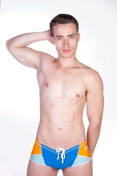 Dietz - Ibiza Swimwear - Blue/Orange