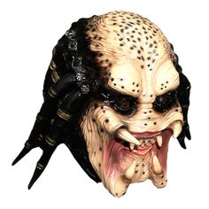 Full head jungle predator latex mask with lots of detail and a great paint job Just like the mask in the Predator movies