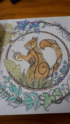Squirrel from Enchanted Forest by Johanna Basford