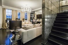 The art deco inspired interiors are finished in a colour palette of cream, silver and blac...
