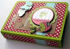 Simple binder mini - love the dots!