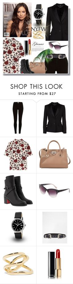 """""""The City Life Style"""" by sherryphoenix ❤ liked on Polyvore featuring River Island, Alexander McQueen, Ganni, Jimmy Choo, Christian Louboutin, Diane Von Furstenberg, ASOS, Jennifer Fisher and Chanel"""