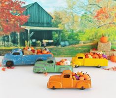 Orange Tootsie Toy Truck Ornament Magnet With by TheBlueRam