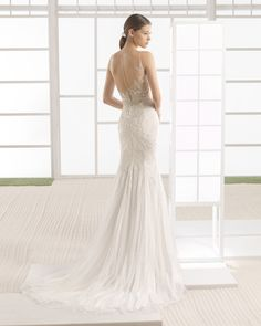 Beaded wedding gown. Rosa Clará Soft 2017 Collection.