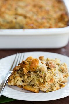 Traditional Bread Stuffing | Brown Eyed Baker | Bloglovin'