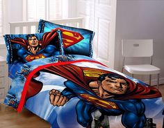 Superieur Superman Bedding Quilt Cover Set Single | Super Heroes For My Daughters |  Pinterest | Quilt Cover, Superman Stuff And Bedrooms