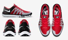 """Nike is set to release a new Georgia Bulldogs shoe called the Free Trainer 5.0 """"Week Zero"""" featuring the Power G and other UGA logos."""