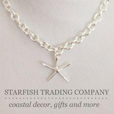 Sale on Sterling silver starfish necklaces Starfish Trading Co. on Etsy www.starfishcottageblog.com
