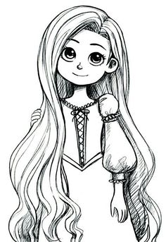 Rapunzel as a child