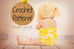 CROCHET PATTERN. Cabbage Patch Kid Inspired Wig. by AdairToCrochet