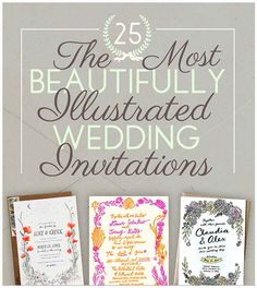 The 25 Most Beautifully Illustrated Wedding Invites