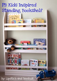 Lipstick and Sawdust: PB Inspired Bookshelves