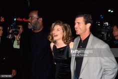 Actors Danny Glover Rene Russo and Mel Gibson at film premiere of their Lethal Weapon 3 ...