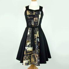 Nevermore Full Length Dress, edgar allan poe, the raven, gothic, spells, poison, steampunk dress, halloween party