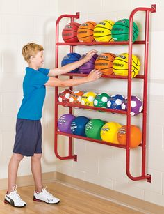 Pe Equipment, Sports Equipment Storage, Garage Organization, Garage Storage, Sports Organization, Kids Garage, Outdoor Toy Storage, Ball Storage, Organizing Your Home