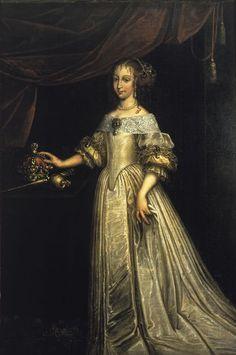 Królowa Eleonora Maria Wiśniowiecka, nieokreślony malarz francuski, ok. 1675, Muzeum Pałacu Króla Jana III w Wilanowie