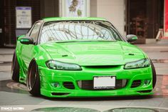 The Green Beast.  Stanced & Fitted Drift Nissan Silvia S15