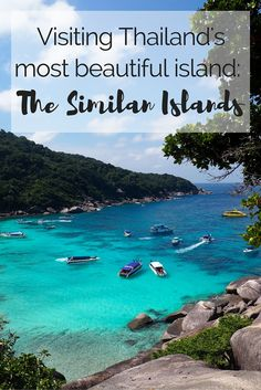 Thailand's Most Beautiful Island: Visiting the Similand Islands // Crystal clear waters, spectacular sea life and white sandy beaches with huge boulders surrounding the shore are waiting for you at the Similan Islands. Click through to read the whole post! www.girlxdeparture.com